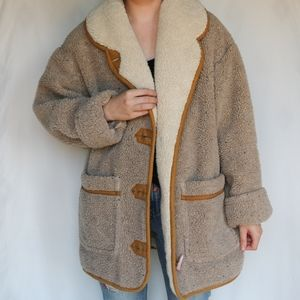 Vintage Izzi Outerwear Sherpa Teddy Fleece Coat